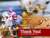 American Football Dribbling PowerPoint Template#20