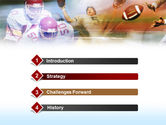 American Football Dribbling PowerPoint Template#3