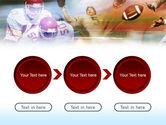 American Football Dribbling PowerPoint Template#5
