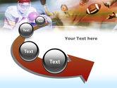 American Football Dribbling PowerPoint Template#6