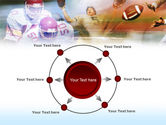 American Football Dribbling PowerPoint Template#7
