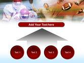 American Football Dribbling PowerPoint Template#8
