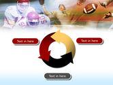 American Football Dribbling PowerPoint Template#9