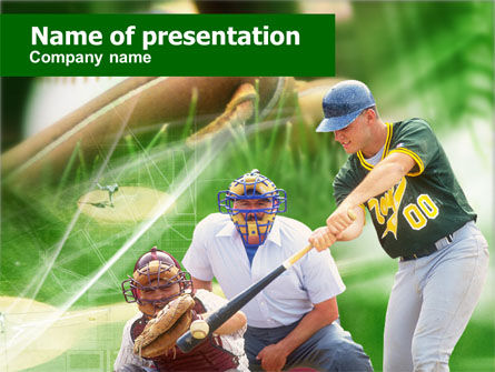 Baseball Rules PowerPoint Template, 00571, Sports — PoweredTemplate.com