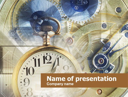 Abstract/Textures: Business Time Management PowerPoint Template #00573