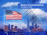 Construction: American City PowerPoint Template #00575