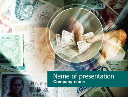 Payments In Cash PowerPoint Template, 00576, Financial/Accounting — PoweredTemplate.com