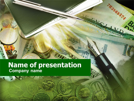 Financial/Accounting: Business Financial Theme PowerPoint Template #00577