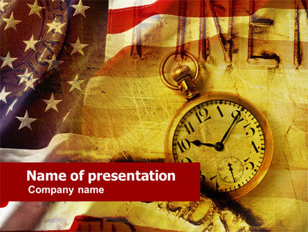 American History PowerPoint Template, 00578, Financial/Accounting — PoweredTemplate.com