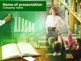 Education & Training: Studying Charts In School PowerPoint Template #00580