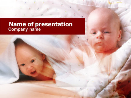 Infant PowerPoint Template, 00581, Education & Training — PoweredTemplate.com
