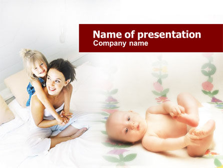 Caring for Baby PowerPoint Template, 00583, People — PoweredTemplate.com