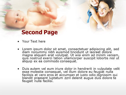 Caring for Baby PowerPoint Template, Slide 2, 00583, People — PoweredTemplate.com