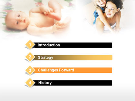 Caring for Baby PowerPoint Template, Slide 3, 00583, People — PoweredTemplate.com