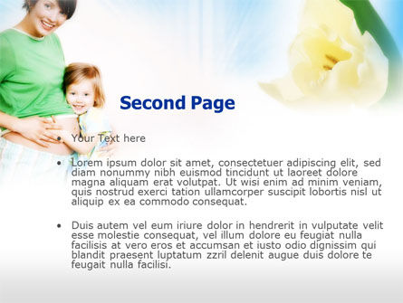 Waiting for Baby PowerPoint Template, Slide 2, 00584, Medical — PoweredTemplate.com