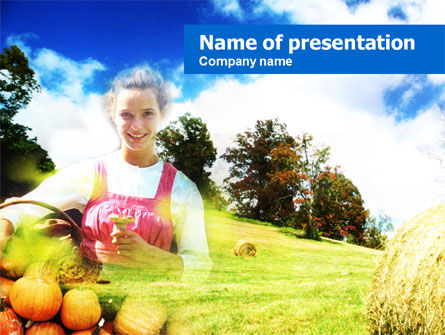 Agriculture: Farmer's daughter PowerPoint Template #00585