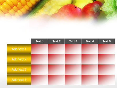 Corn and Apples PowerPoint Template Slide 15