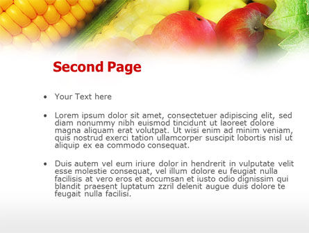 Corn and Apples PowerPoint Template, Slide 2, 00589, Agriculture — PoweredTemplate.com