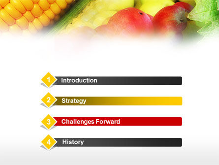 Corn and Apples PowerPoint Template, Slide 3, 00589, Agriculture — PoweredTemplate.com