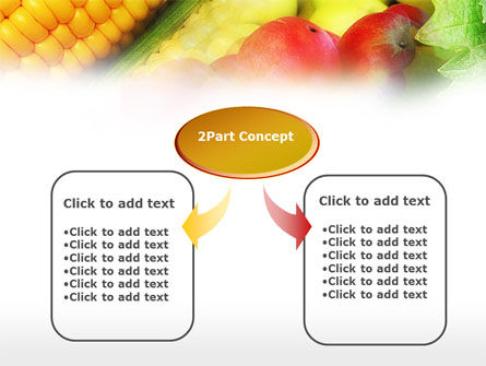 Corn and Apples PowerPoint Template, Slide 4, 00589, Agriculture — PoweredTemplate.com