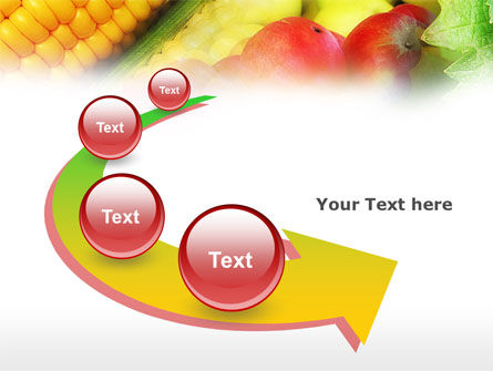 Corn and Apples PowerPoint Template Slide 6