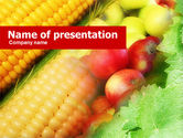 Agriculture: Corn and Apples PowerPoint Template #00589