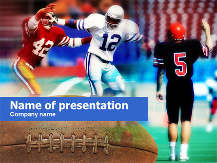 Sports: Football Players PowerPoint Template #00590