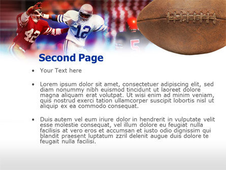 Football Players PowerPoint Template, Slide 2, 00590, Sports — PoweredTemplate.com