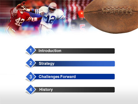Football Players PowerPoint Template, Slide 3, 00590, Sports — PoweredTemplate.com