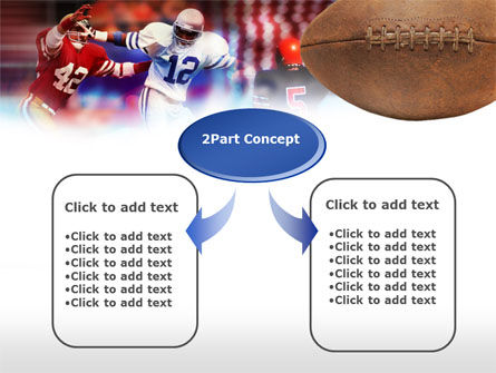 Football Players PowerPoint Template, Slide 4, 00590, Sports — PoweredTemplate.com
