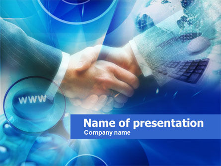 Business Concepts: Online Business PowerPoint Template #00591