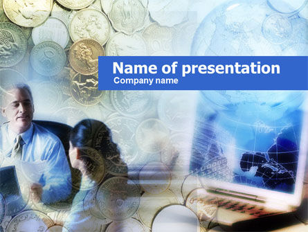 Financial/Accounting: Banking Services PowerPoint Template #00592