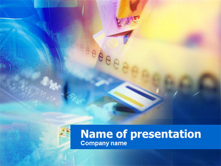Online Payments PowerPoint Template, 00593, Technology and Science — PoweredTemplate.com