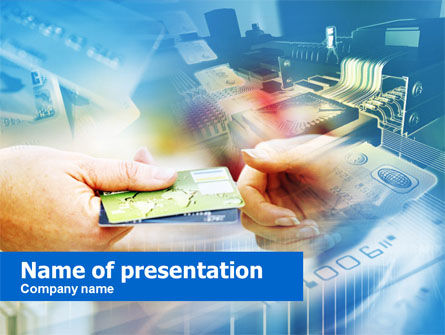 Credit Card PowerPoint Template, 00594, Technology and Science — PoweredTemplate.com