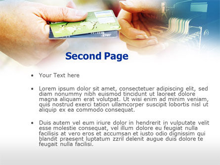 Credit Card PowerPoint Template, Slide 2, 00594, Technology and Science — PoweredTemplate.com