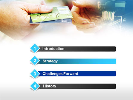 Credit Card PowerPoint Template, Slide 3, 00594, Technology and Science — PoweredTemplate.com