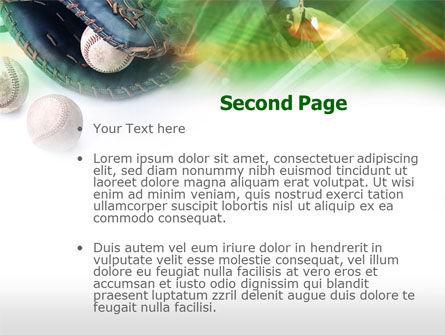Baseball Pitcher PowerPoint Template, Slide 2, 00595, Sports — PoweredTemplate.com