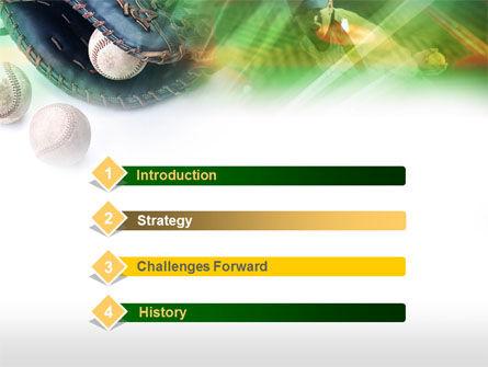 Baseball Pitcher PowerPoint Template, Slide 3, 00595, Sports — PoweredTemplate.com