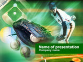 Sports: Baseball Pitcher PowerPoint Template #00595