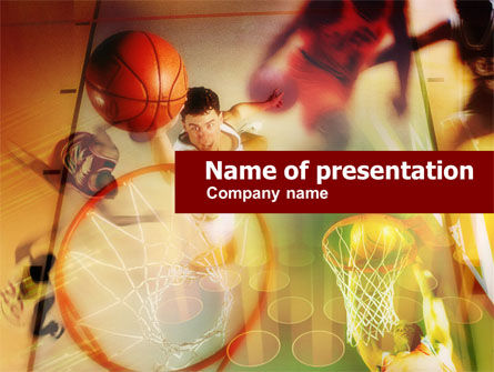 Basketball Dunk PowerPoint Template, 00596, Sports — PoweredTemplate.com