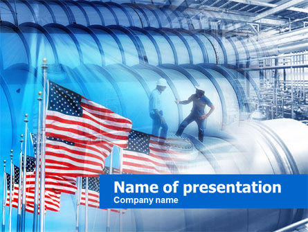 US Oil Reserves PowerPoint Template, 00597, Utilities/Industrial — PoweredTemplate.com