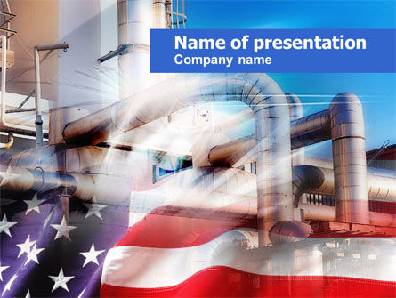 US Oil Industry PowerPoint Template, 00598, Utilities/Industrial — PoweredTemplate.com