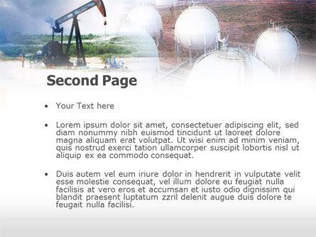 Oil Storage PowerPoint Template, Slide 2, 00601, Utilities/Industrial — PoweredTemplate.com