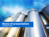 Careers/Industry: Oil Tank PowerPoint Template #00602