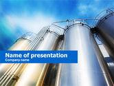 Careers/Industry: Modelo do PowerPoint - tanque de óleo #00602