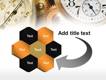 Clock Mechanism PowerPoint Template Slide 11