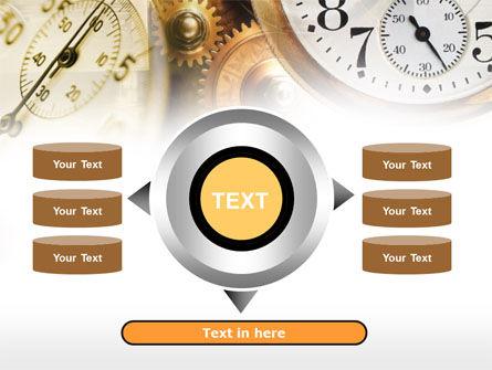 Clock Mechanism PowerPoint Template Slide 12
