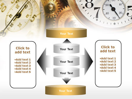 Clock Mechanism PowerPoint Template Slide 13