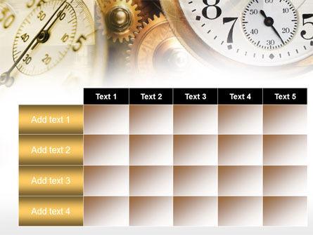 Clock Mechanism PowerPoint Template Slide 15