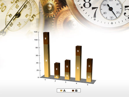 Clock Mechanism PowerPoint Template Slide 17